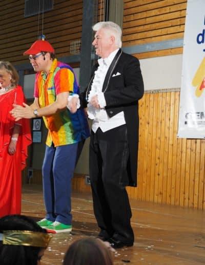 Mr. Black und Ursula mit Mr. Kunterbunt beim Festival der guten Taten